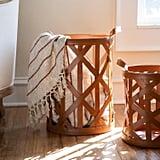 Leather Strap Basket