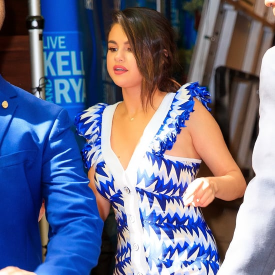 Selena Gomez's Blue Dress on Live With Kelly and Ryan