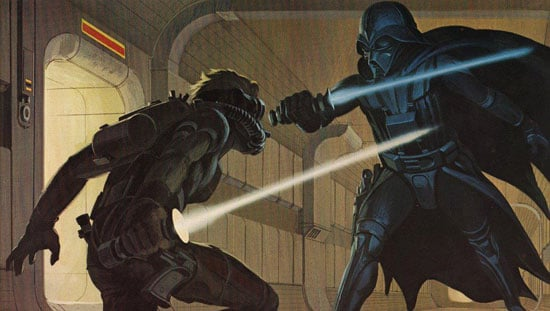 Darth Vader as imagined for Star Wars: A New Hope. Source: Ralph McQuarrie Facebook
