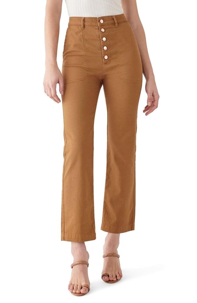 DL1961 x Marianna Hewitt Jerry High Waist Vintage Crop Straight Leg Jeans