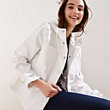Loft Hooded Drawstring Utility Jacket