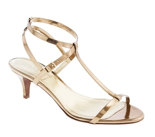 J.Crew's Greta metallic sandals ($188) are sweet, a little edgy, and impossibly easy to walk in, thanks to a just-over-two-inch heel.