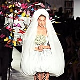 Gigi Hadid as a Bride in Moschino's Spring / Summer 2020 Show