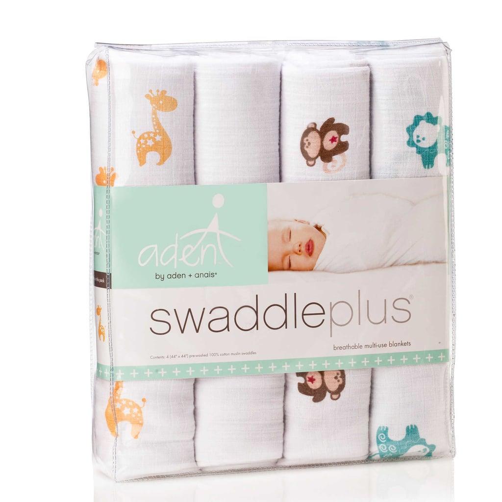 Aden by Aden + Anais Safari Muslin 4-Pack Swaddleplus Blankets