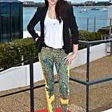 At the 2012 Cannes Film Festival, the star rocked a serious pair of printed pants by Balenciaga — teamed with a structured Rebecca Minkoff blazer and pointed pumps.