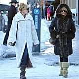 Melanie Griffith and Goldie Hawn linked up in Aspen on Saturday.