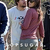 Mark Wahlberg and Rhea Durham got close during the game.