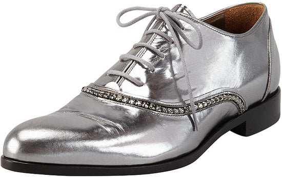 A total investment piece, let these Lanvin Metallic Crystal oxfords ($1,150) light up your wardrobe.