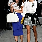 Leandra Medine perfected the black and white look, right down to her toes.