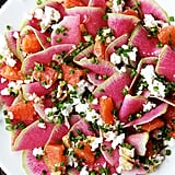 Watermelon Radish, Orange, and Goat Cheese Salad