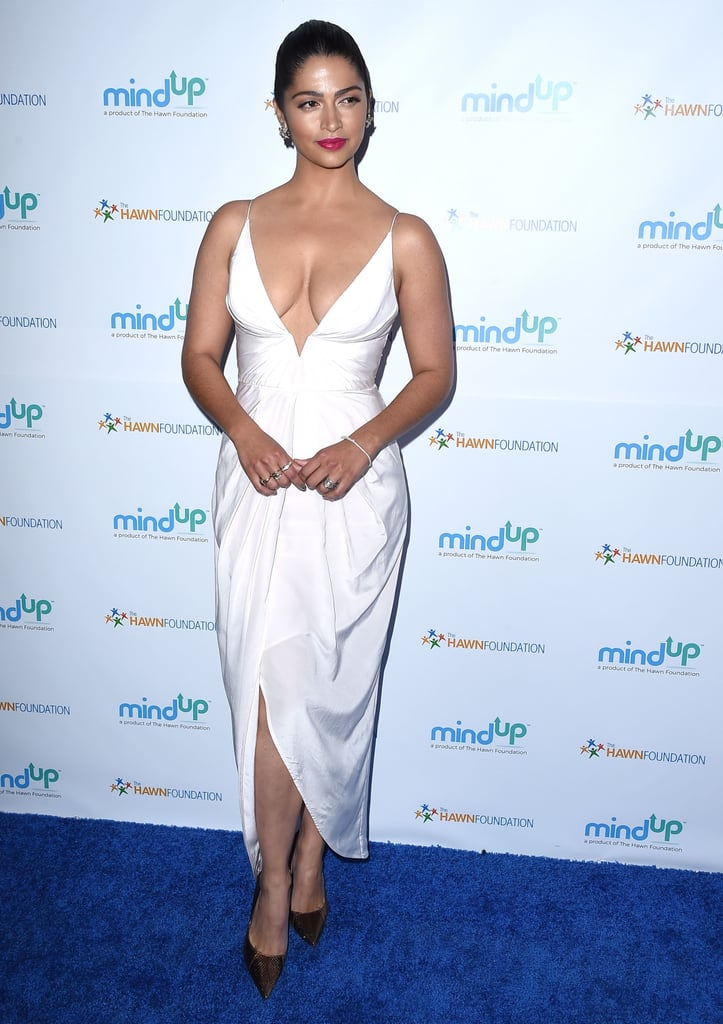 Camila Alves Wearing a Sexy White Dress May 2016