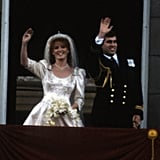 Sarah Ferguson and Prince Andrew Waving in 1986