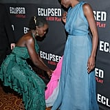 When She Graciously Helped BFF Danai Gurira With Her Dress on the Red Carpet