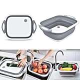 Collapsible Chop and Strain Cutting Board