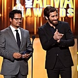 Jake Gyllenhaal presented an award with Michael Pena.