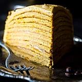 Pumpkin Spice Latte Vegan Crepe Cake