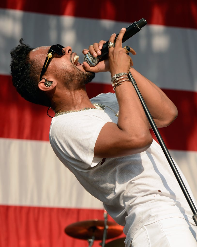 Miguel belted it out while performing.