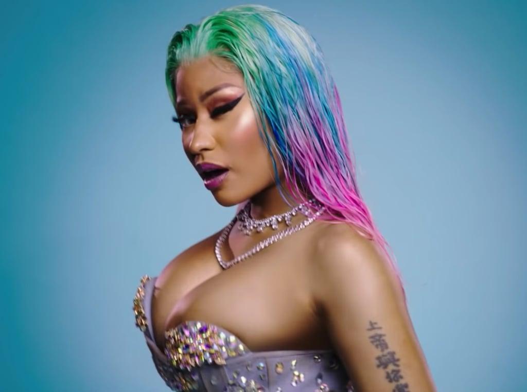 """Nicki Minaj's Hair in """"Barbie Dreams"""""""