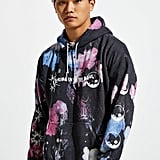 Look Into The Soul Bleach Dyed Hoodie Sweatshirt