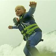 3-Year-Old Boy Surfs Like a Pro