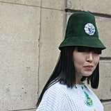 A vintage hat to top off the look.