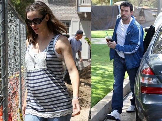 Photos of Pregnant Jennifer Garner and Ben Affleck in Brentwood
