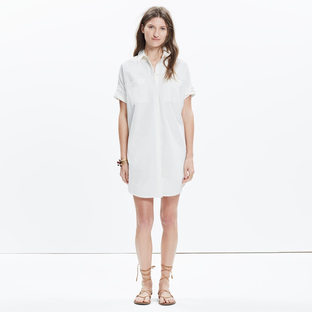 The Dress: Madewell Striped Tunic Shirtdress ($98) The Costume: A doctor or nurse, a sailor, or a train engineer.