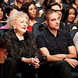 Robert Pattinson Debuts Hot Shaved Head Alongside Betty White