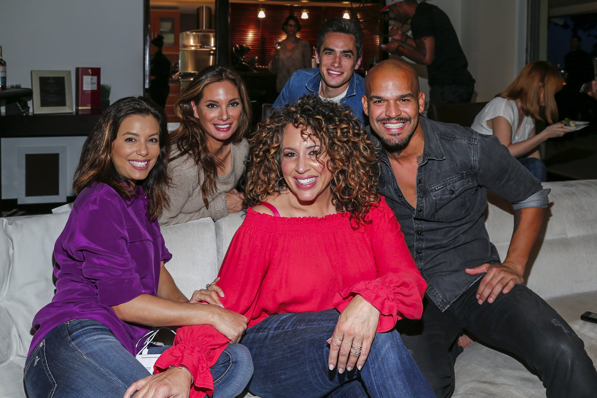 LOS ANGELES, CA - FEBRUARY 22:  Actors, Eva Longoria, Alex Meneses, Jose Moreno Brooks, Diana Maria Riva and Amaury Nolasco attend an event hosted by The Macallan for the cast of NBC's Telenovela to celebrate their Season 1 finale on February 22, 2016 in Los Angeles, California.  (Photo by Rich Polk/Getty Images for The Macallan)