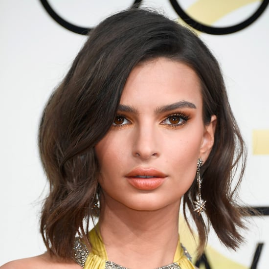 Emily Ratajkowski's Hair at Golden Globes 2017
