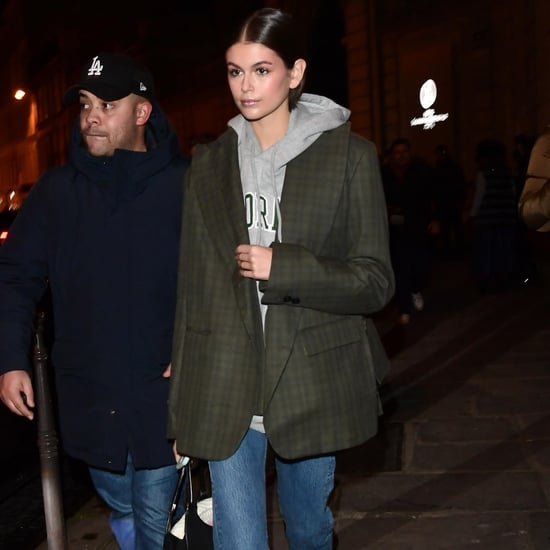 Kaia Gerber's Blazer and Hoodie Street Style at Couture Week