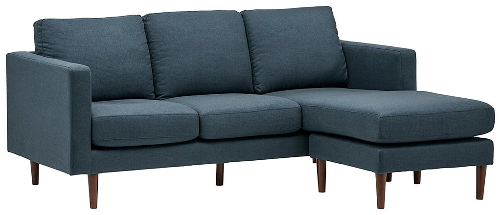 Modern Reversible Chaise Sectional in Denim ($799)