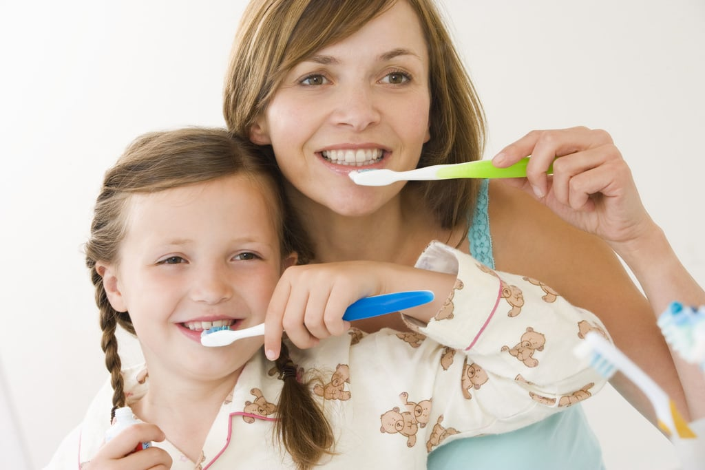 Brush Teeth For Two to Three Minutes