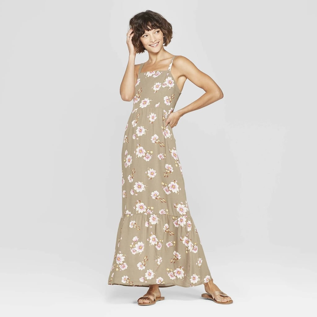 faa06af7d5d Floral Print Strappy Tiered Maxi Dress