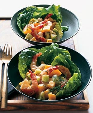 Monday's Leftovers: Shrimp, Cucumber, and Mango Salad