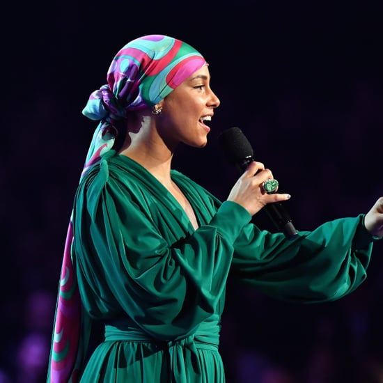 Alicia Keys's Hair Wrap at 2019 Grammys
