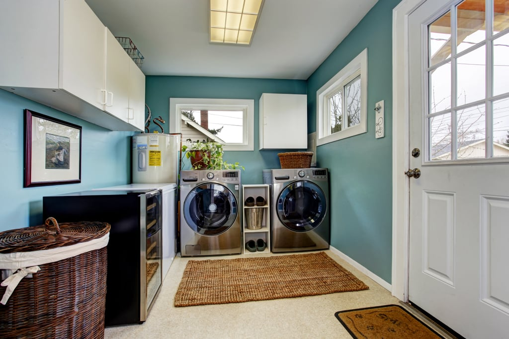 2. Add a Fresh Coat of Paint to the Laundry Room
