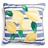 Indoor Outdoor Lemon Stripe Pillow