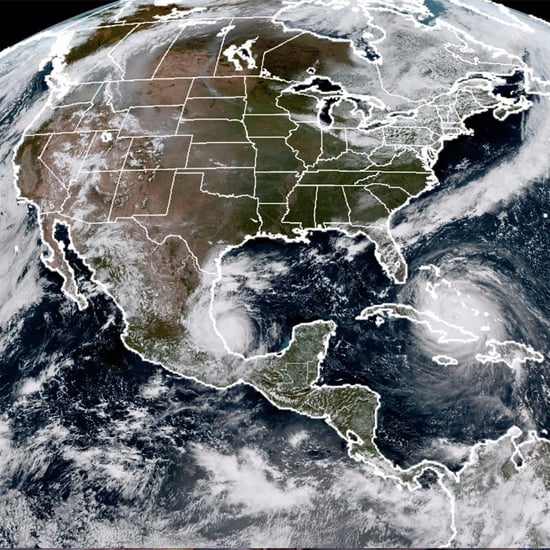 NOAA Satellite Image of Hurricanes Irma, Jose, and Katia