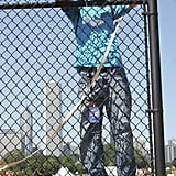 A fan climbed a fence in 2006 for a better look.
