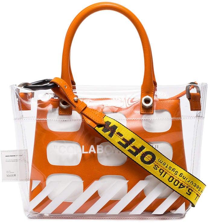 0f5a5abdbd Heron Preston x Off-White Collaboration Mini PVC Tote Bag