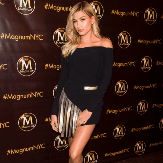 Hailey Baldwin Wearing a Dress With Sneakers