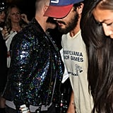 Shia LaBeouf arrived hand in hand with Karolyn Pho.