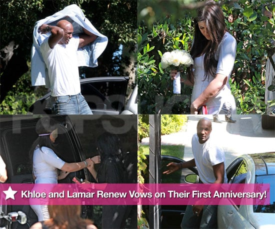 Pictures of Khloe Kardashian and Lamar Odom Renewing Their Wedding Vows
