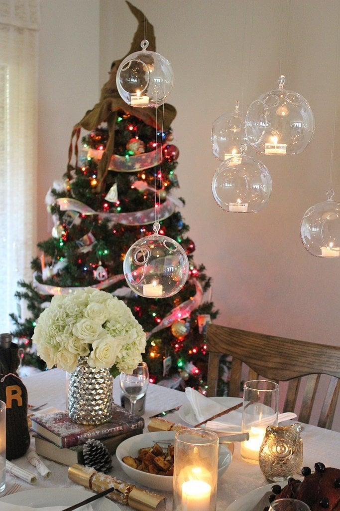 Hang Floating Candles Harry Potter Holiday Feast Table