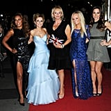 Melanie Brown, Geri Halliwell, Emma Bunton and Melanie Chisholm attended the Viva Forever! press night at London's Piccadilly Theatre.
