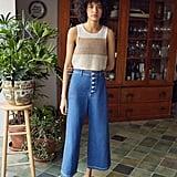 BDG Juliette Button-Fly Wide Leg Jean