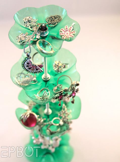 Plastic-Bottle Jewellery Stand