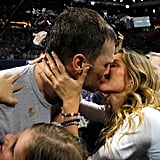 Tom celebrated a Super Bowl victory with a kiss from Gisele in February 2019.