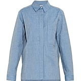 See by Chloé Lurex-Stripe Cotton-Blend Shirt ($270)